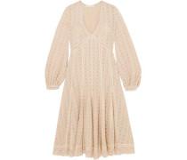 Broderie Anglaise Cotton-blend Gauze Midi Dress Ecru