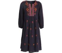 Sharlen embroidered cotton-gauze dress