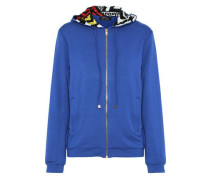 Embellished Stretch-jersey Hoodie Blue Size I