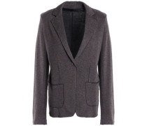 Frayed cotton and cashmere-blend jacket