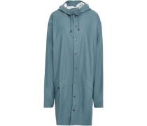 Coated Shell Hooded Raincoat Teal  /XL