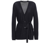 Woman Belted Cashmere Cardigan Midnight Blue