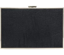Imperial Stop Staring Printed Textured-leather Box Clutch Black Size --