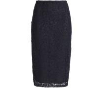 Cotton macramé lace pencil skirt