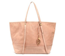 Bisou embossed leather tote