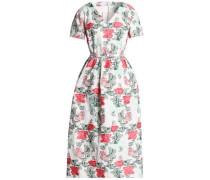 Flared fil coupé midi dress