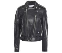 Letto Leather Biker Jacket Black