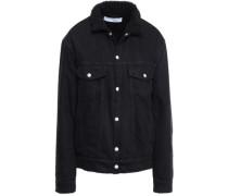 Gravity Shearling-lined Denim Jacket Black