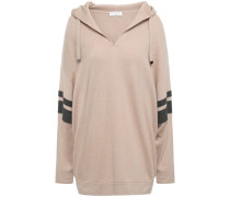 Woman Bead-embellished Cashmere Hooded Sweater Neutral