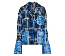 Printed Jacquard Shirt Blue