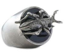 Woman Silver-tone Ring Gunmetal