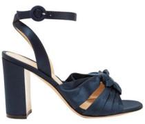 Loren 85 Knotted Satin Sandals Midnight Blue