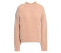 Woman Brushed Knitted Sweater Sand