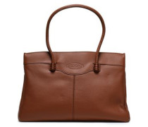 Woman Pebbled-leather Tote Brown