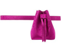 Woman Minee Convertible Velvet Belt Bag Magenta