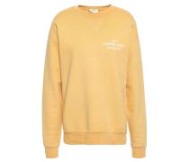 Printed French Cotton-terry Sweatshirt Yellow