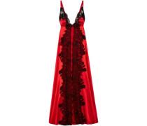 Madame Shehu lace-paneled silk-satin nightdress