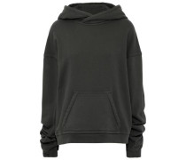 French Cotton-terry Hoodie Dark Green