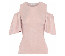Romilly cold-shoulder metallic stretch-knit top