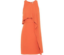 Layered Crepe Mini Dress Orange