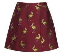 Printed jacquard mini skirt