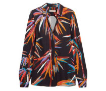 Printed stretch-jersey shirt