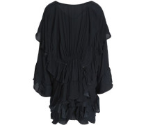 Ruffled crepe de chine top