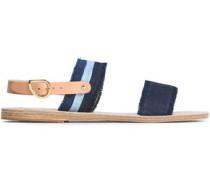 Frayed Denim Sandals Dark Denim
