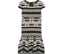 Darby fluted intarsia-knit mini dress