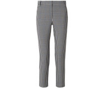 Woman Gingham Cady Slim-leg Pants Black