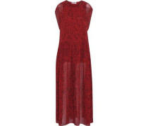 Printed faille maxi dress
