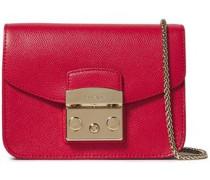 Woman Metropolis Textured-leather Shoulder Bag Crimson