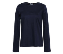 Cotton-jersey Top Navy