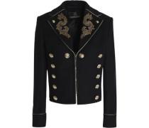 Embellished wool-blend jacket