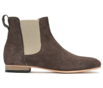 Troy Suede Ankle Boots Chocolate