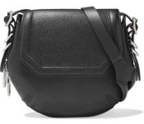 Bradbury Mini Zip-detailed Pebbled-leather Shoulder Bag Black Size --