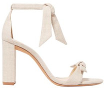 Knotted Canvas Sandals Neutral
