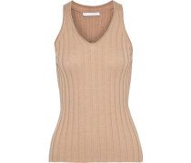 Woman Ribbed Wool Tank Sand