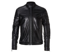 "Leather Moto Jacket ""Every demon"""