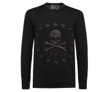 """Pullover Round Neck LS """"Stars skull"""""""