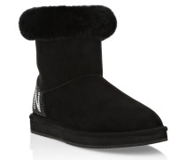 Boots Low Flat Crystal Plein