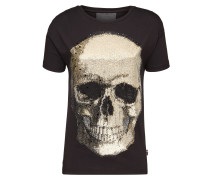 "T-Shirt Original Cut Round Neck ""Shiny Skull"""
