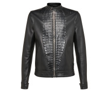 """Leather Bomber """"Shield"""""""