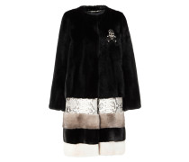 "Fur Coat Short ""Amarant One"""