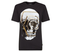 "T-shirt Platinum Cut Round Neck ""Gold skull"""