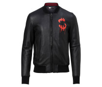 """Leather Bomber """"Money soup"""""""