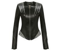 Leather Jacket Crystal