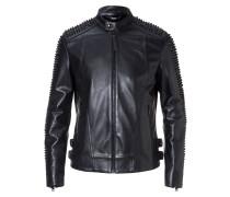 """Leather Moto Jacket """"Snake strass"""""""