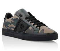 Nubuck Lo-Top Sneakers Hexagon and Studs
