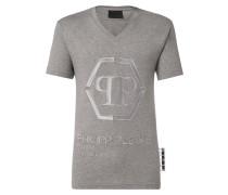T-shirt Black Cut V-Neck Statement